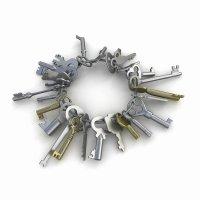 коллекция 3д моделей ключей