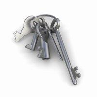 3д модель связки ключей