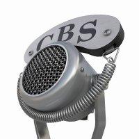 3d модель винтажного микрофона вид на пружину крепления