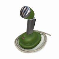 3d модель ретро микрофона shure вид спереди