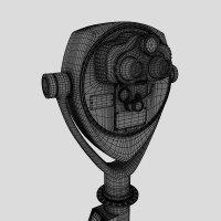 3D визуализация продукции. Бинокль 3D-модель
