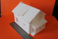 3д моделирование и печать модели дома в масштабе 1:100