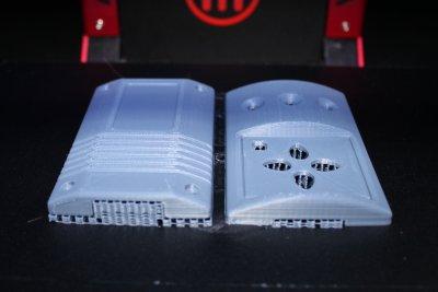 отпечатанный на 3д-принтере из ABS пластика прототип корпуса