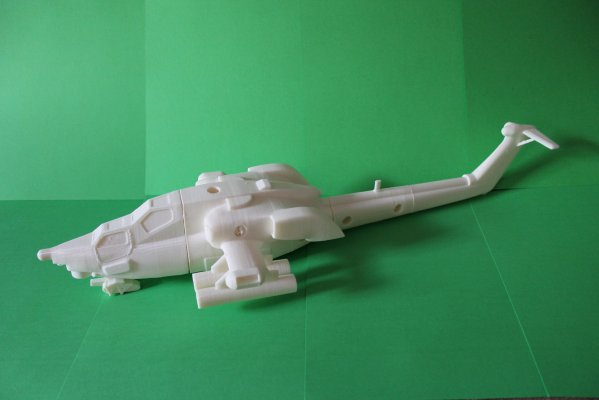 Модель вертолета отпечатанная на 3D-принтере