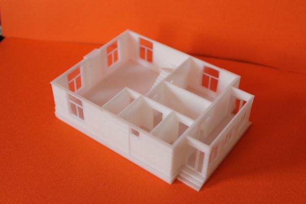1 этаж отпечатанного на 3д принтере макета дома