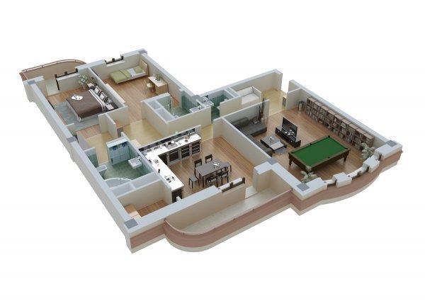 3D визуализация планировок