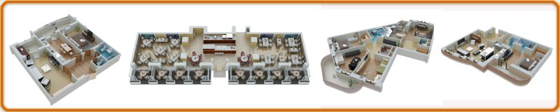 3D визуализация планировок зданий